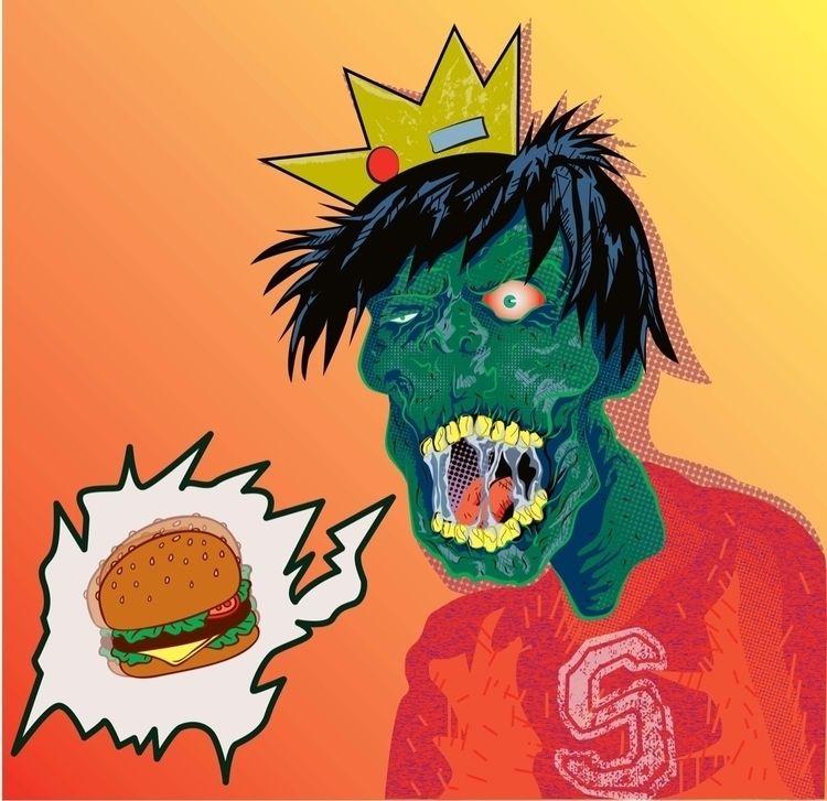 Zombie jughead burger - illustration - docbrownillustration | ello