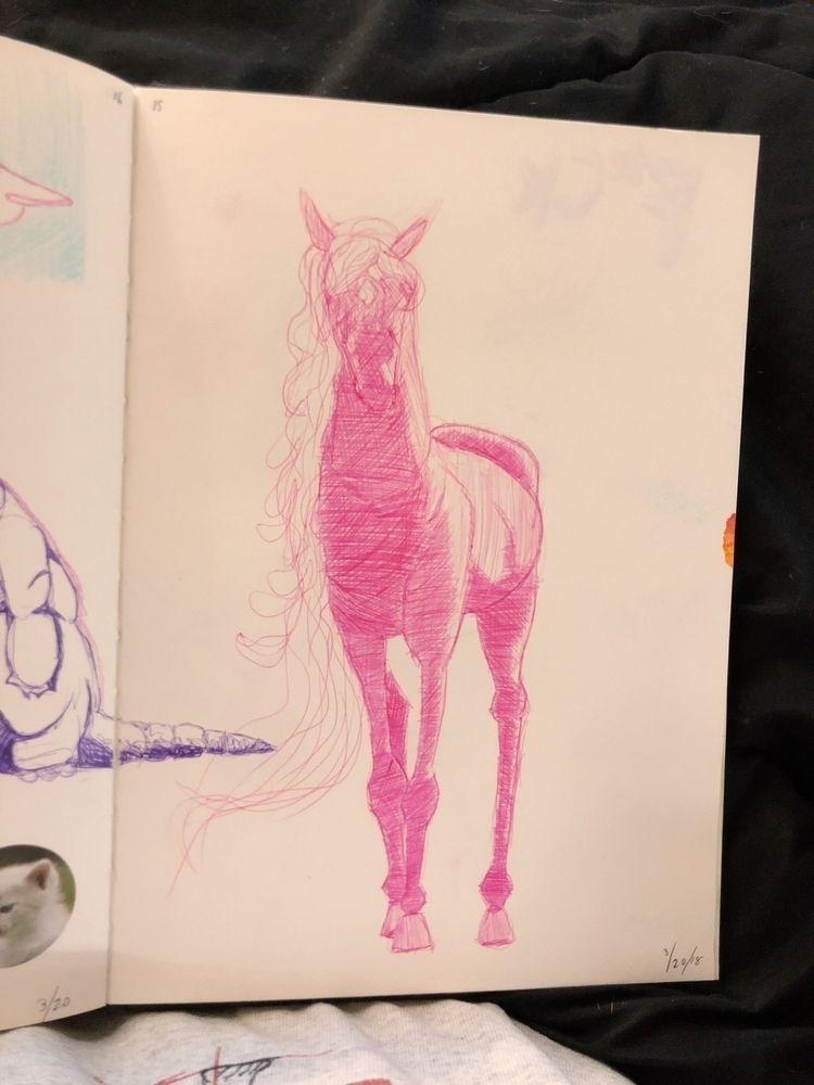 horse, ballpoint - maypri | ello