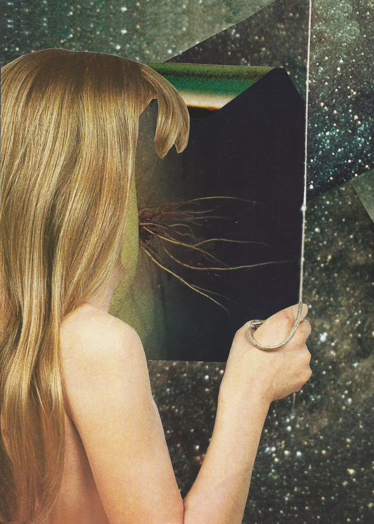 Hang Handmade collage :copyrigh - anitaacollages | ello
