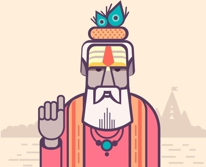 Adobe illustrator Wiseman - meristepanyan | ello