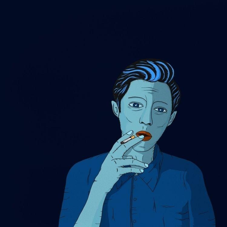 illustration, artwork, Smoke - wait-what | ello