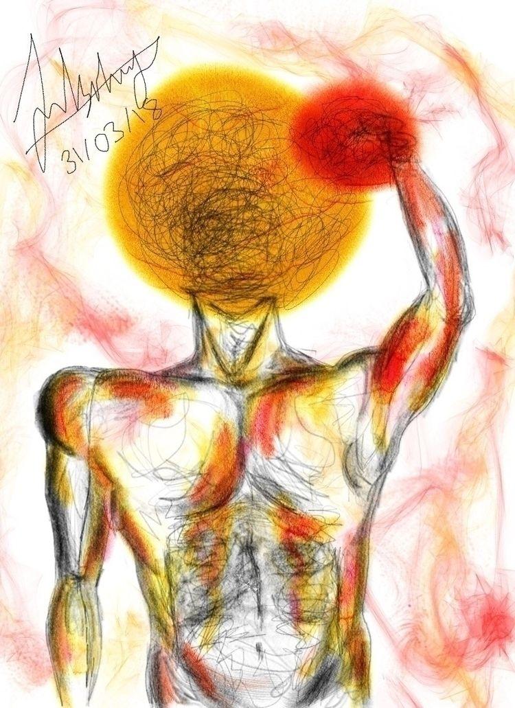 Sun Tangles sun - ello, illustration - jannatli | ello