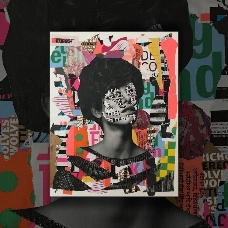 Analogue collages canvas, 2018 - deshalbpunkt | ello