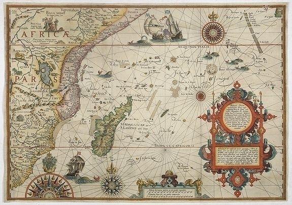 van Linschoten, west - map, Africa - paulus_swaen | ello