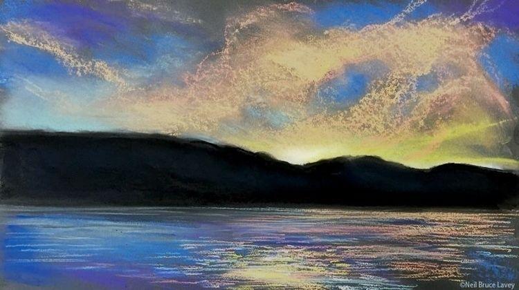 """Hastings Sunset"" Pastel paper - neillaveyart | ello"