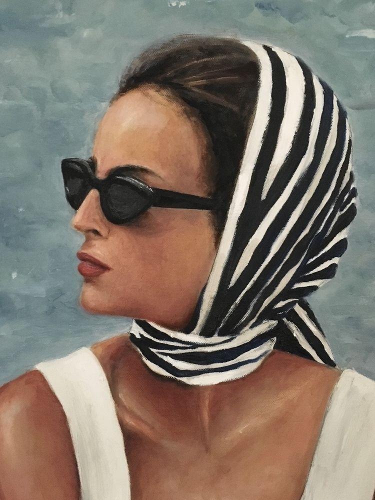 close ~ profile oil canvas 36 4 - michibroussard | ello