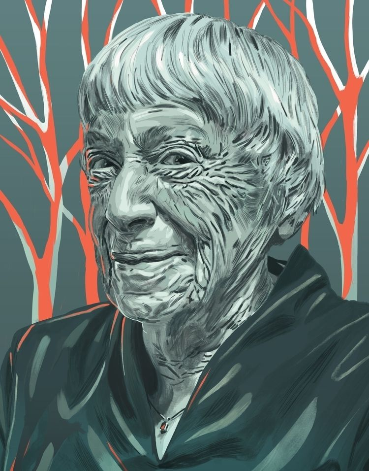 'Ursula Le Guin - art, arte, artinfo - ciaran_illustration | ello
