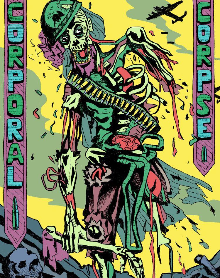 'Corporal Corpse - art, arte, artinfo - ciaran_illustration | ello