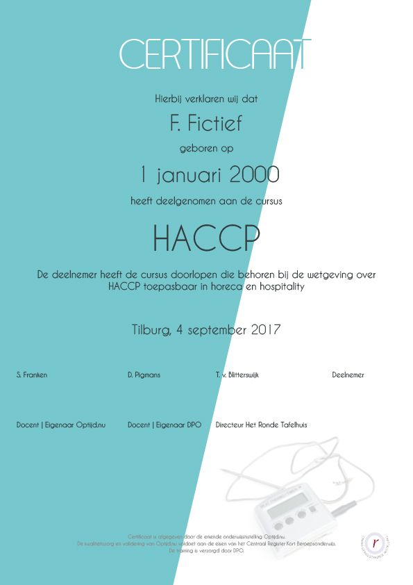 Cursus, Optijd.nu, HACCP, Horeca - inezfranken | ello