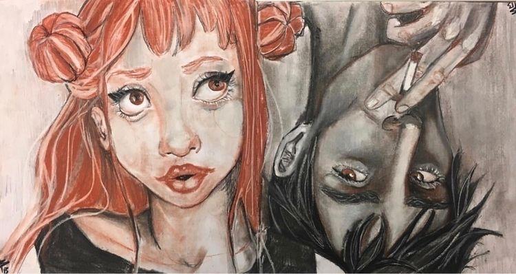 redblack, illustration, storylove - mariabrionesballester | ello