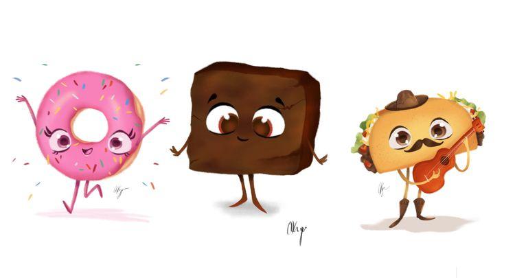 Foodies - characterdesign, taco - amberkrueger | ello