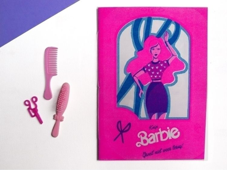 Risoprinted barbie zine - childhood - ellis_tolsma | ello