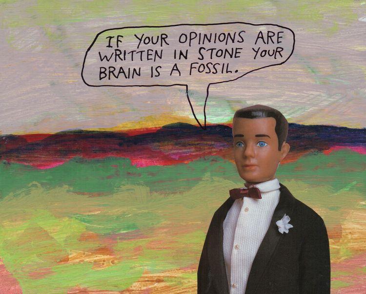 opinions, brain, stone, fossil - stoicmike   ello