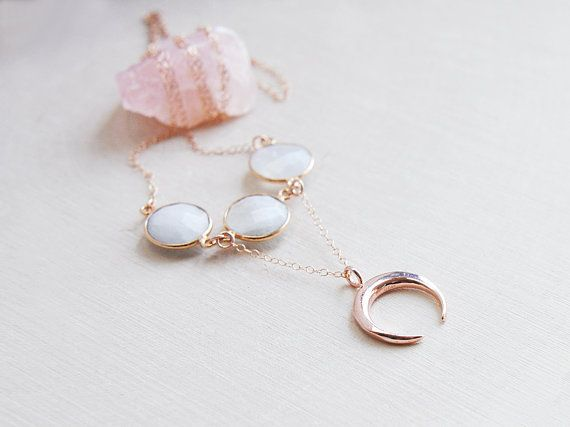 14k rose gold filled crescent m - fawinginlove | ello