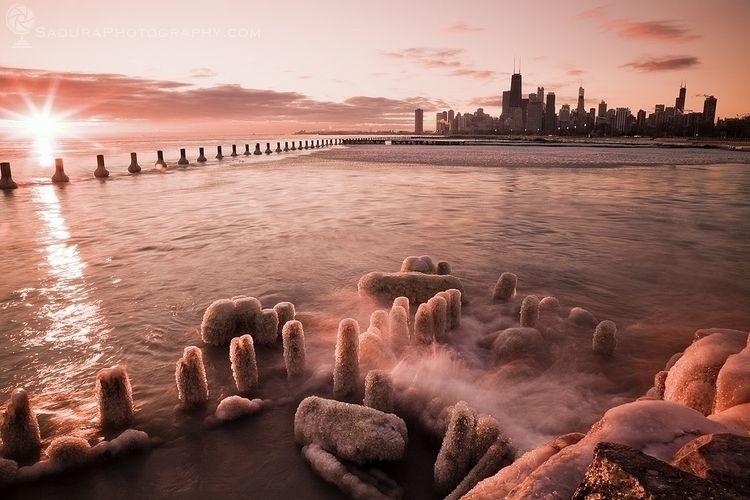 Icy sunrise Chicago Chicago, Il - hsphotos | ello