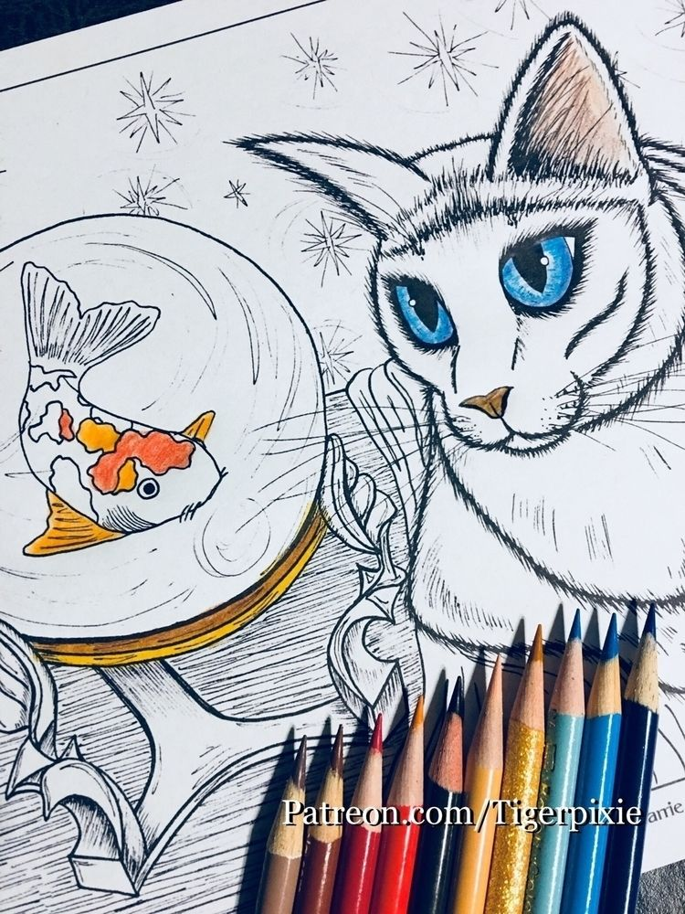 April Coloring Page! Rue Fortun - tigerpixie | ello