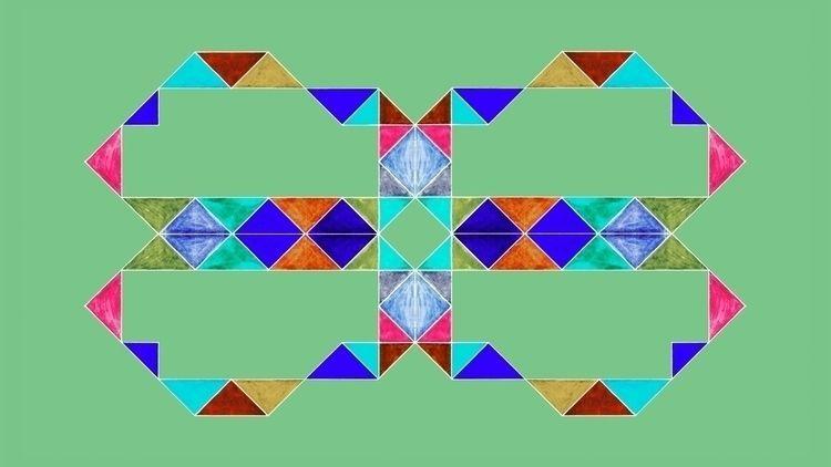 Reflective Triagles Light Green - istvanocztos | ello