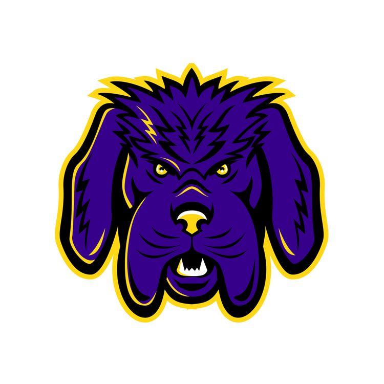 Newfoundland Dog Mascot Angry - NewfoundlandDog - patrimonio | ello