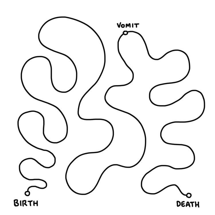 Vomit⠀ .⠀ - illustration, vomit - javirroyo | ello