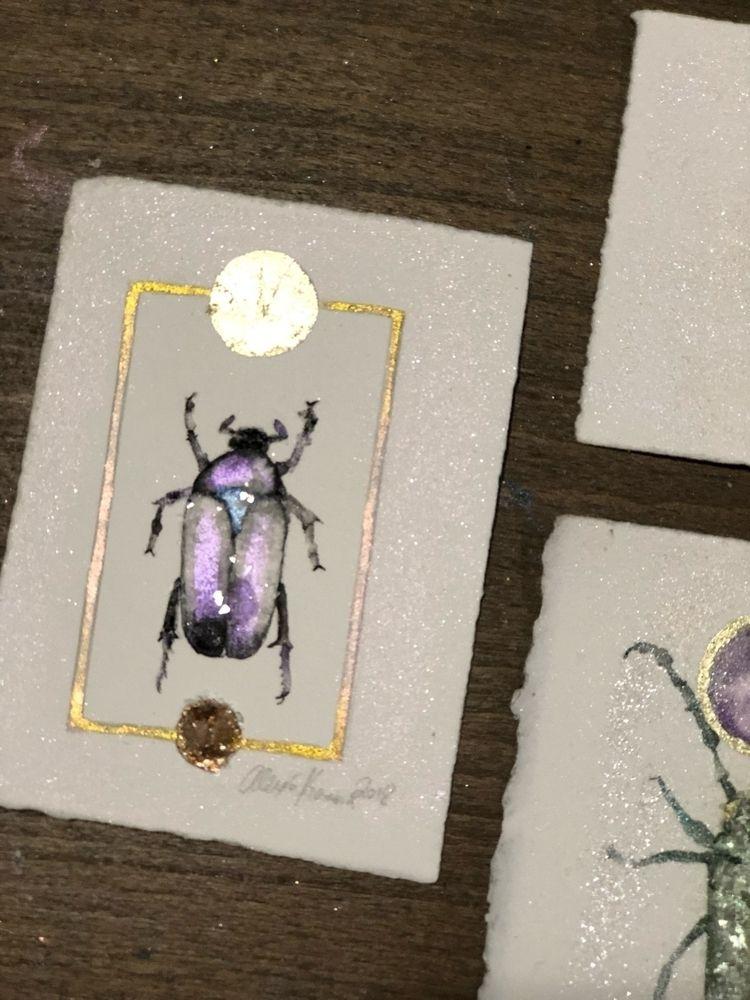Purple jewel beetle. 100 day pr - alexakarabin | ello