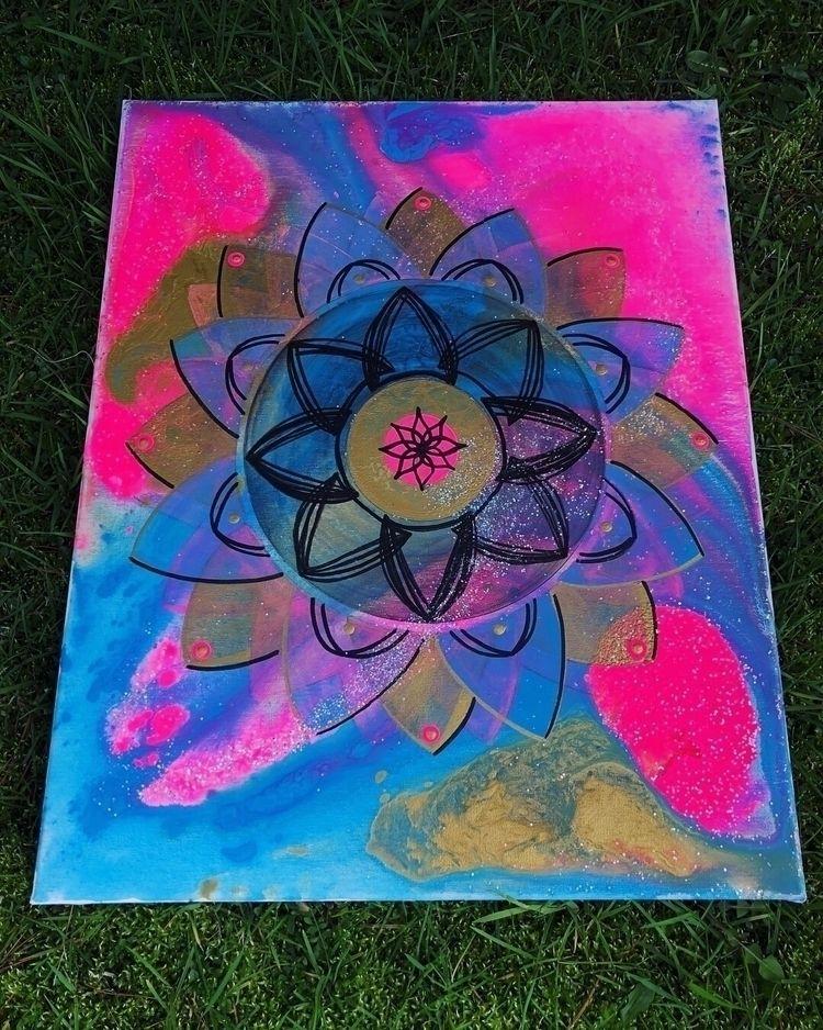 acrylic + glitter canvas - artbykaylabraden | ello