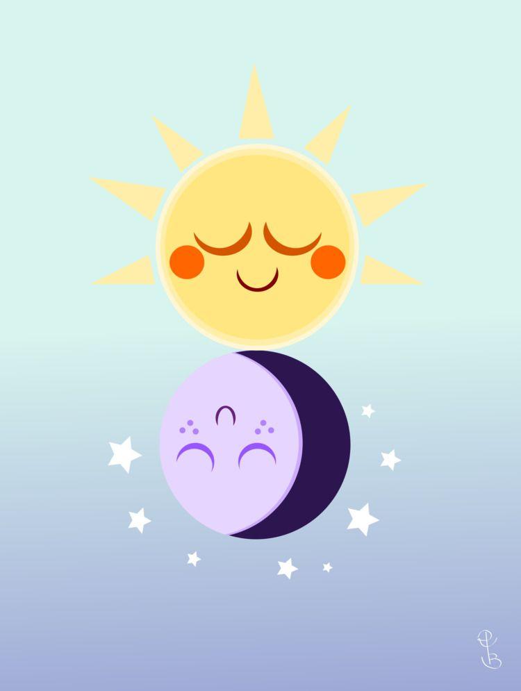 sun, moon, vector, gradient, cycle - lucidrozz | ello