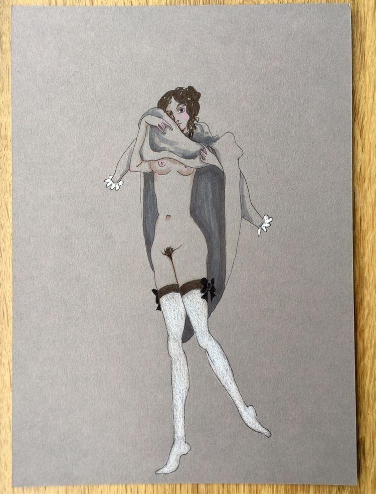 undressing - kunst, drawing, feminine - lorettamae | ello