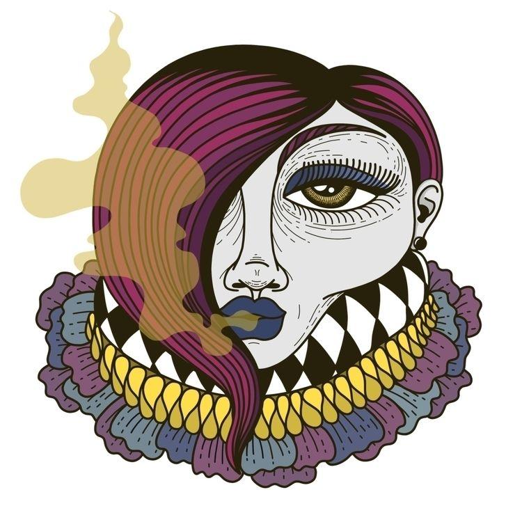 illustration, art, drawing, portrait - alicecquaglia | ello