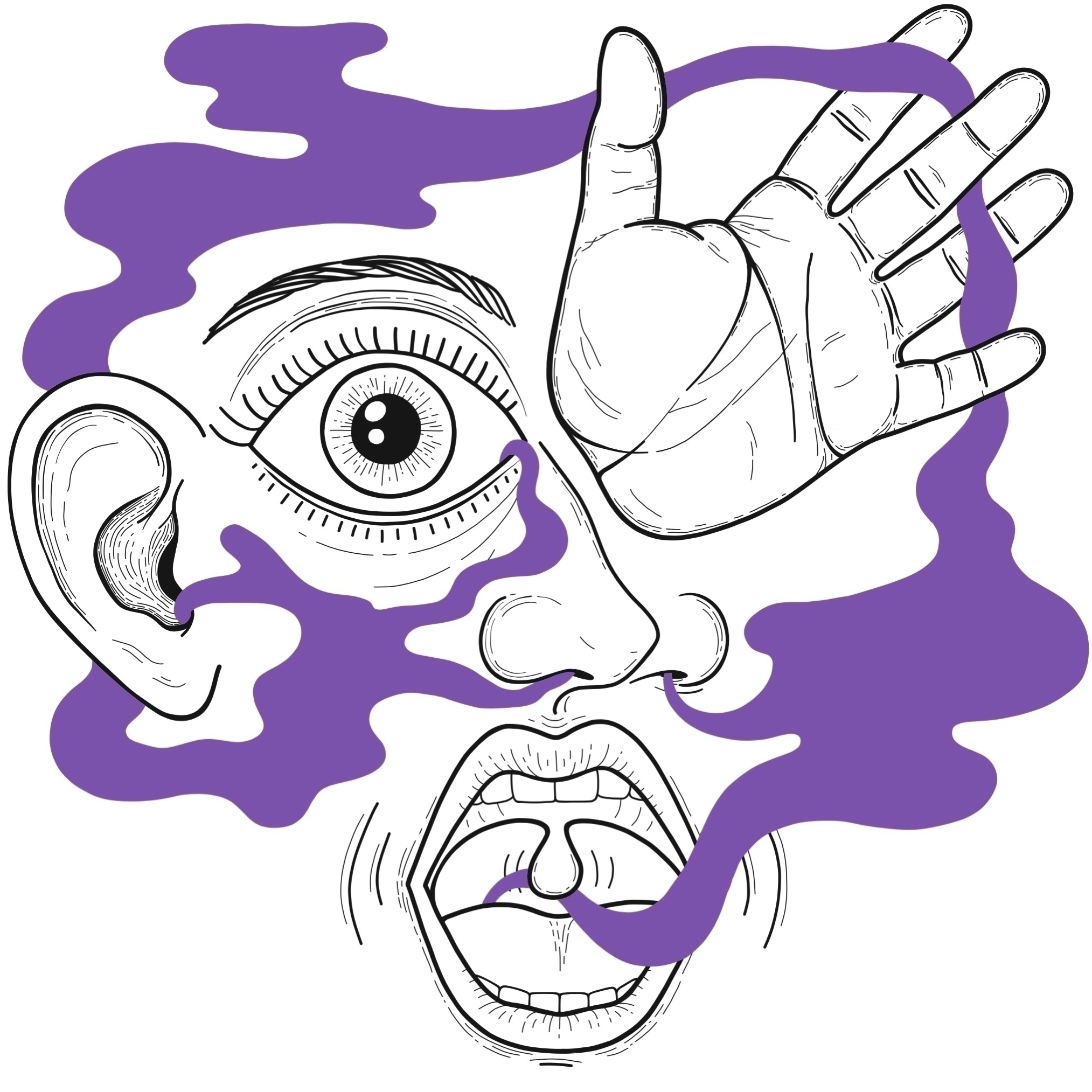 Sentidos - illustration, art, drawing - alicecquaglia | ello