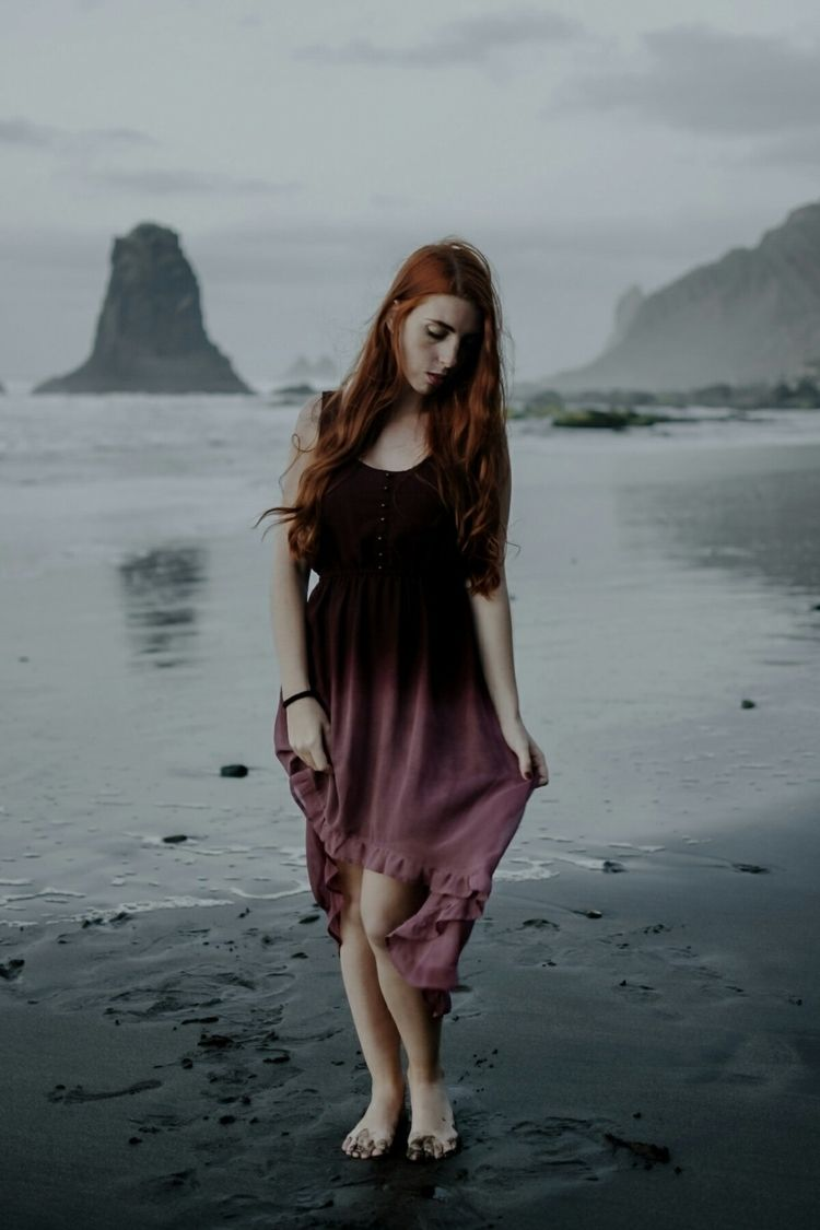 beach, cold, dress, portrait - svsogarcia | ello