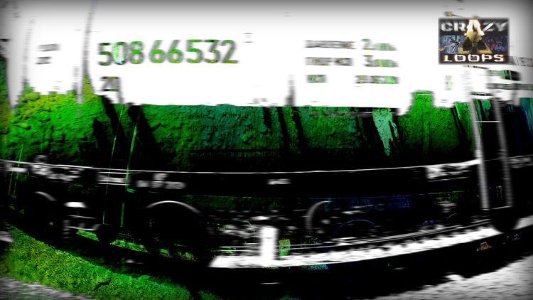 :) Dark Green Acid Railway Tank - crazy_loops | ello