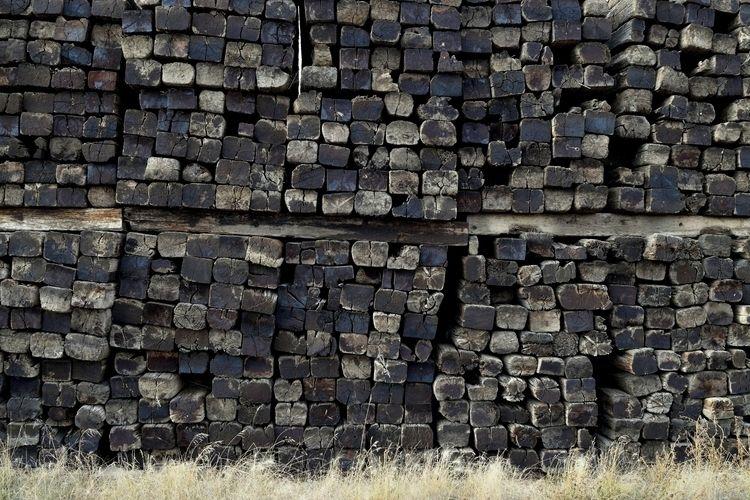 railroad ties rest piles CN lin - camwmclean | ello