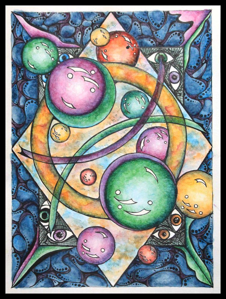 Untitled. Watercolor ink paper - disgruntledpeon | ello