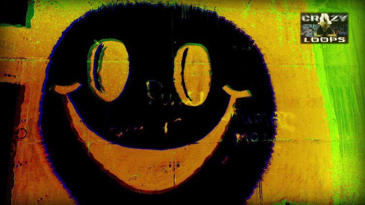 :) Smile Face Graffiti Acid col - crazy_loops | ello