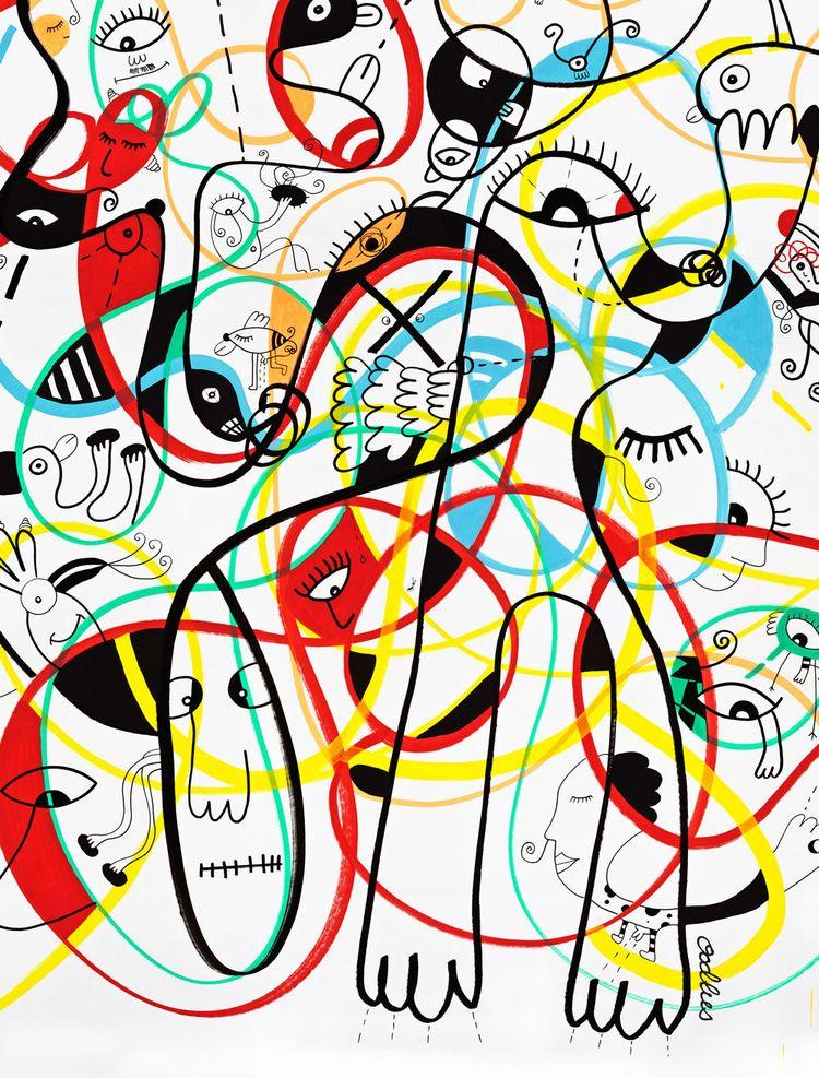 Dance, Dance Acrylic, markers,  - joimurugavell | ello