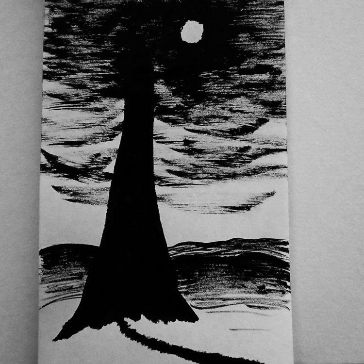 Mood - ink, pentelbrushpen, brushpen - ebo_draws | ello