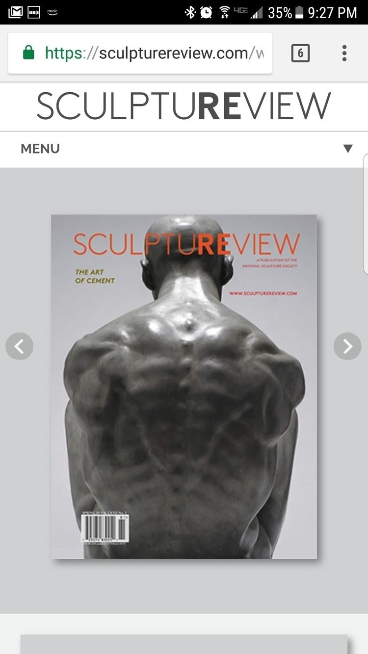 Sculpture Review Magazine featu - brett_f_harvey | ello