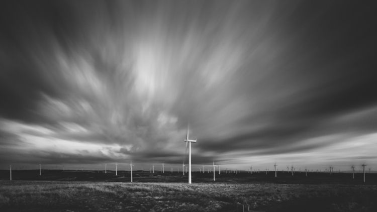 wind - windfarm, blackandwhite, scotland - chriscameron | ello