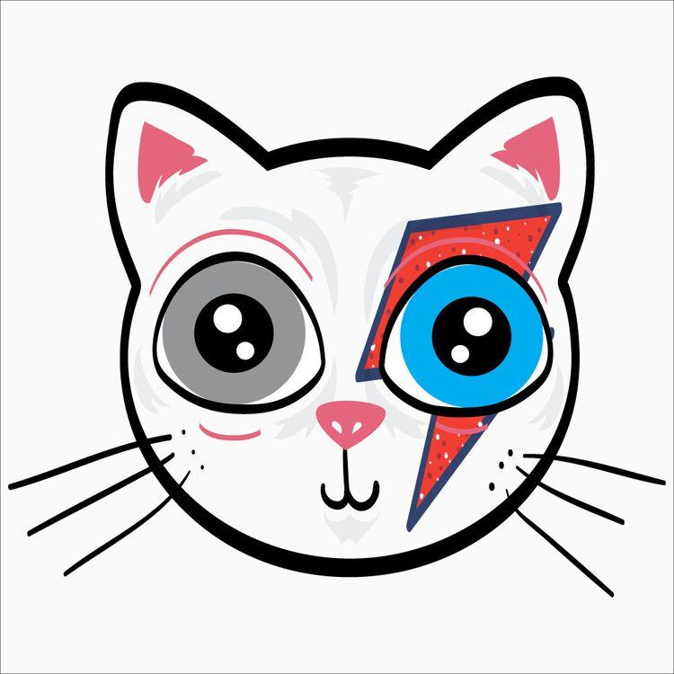 BowieCat - Illustration, VectorArt - adrianaduque | ello