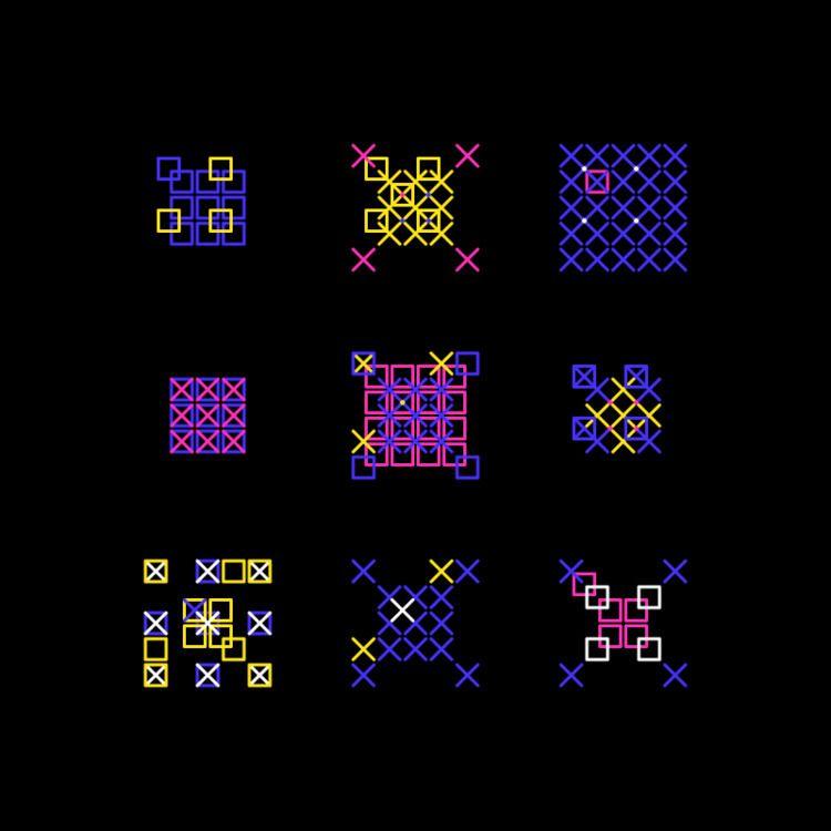Geometric Shapes / 180412 - processing - sasj | ello