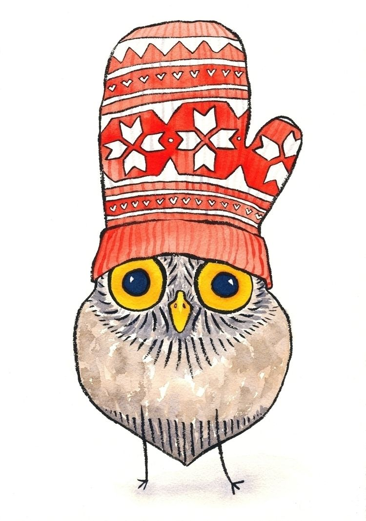 illustration, owl, childrensillustration - reneeleigh | ello