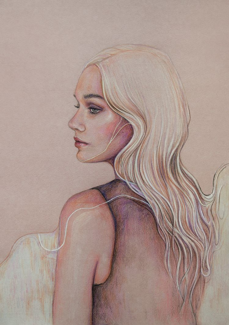 Ethereal Colored pencils ink de - anakurist | ello