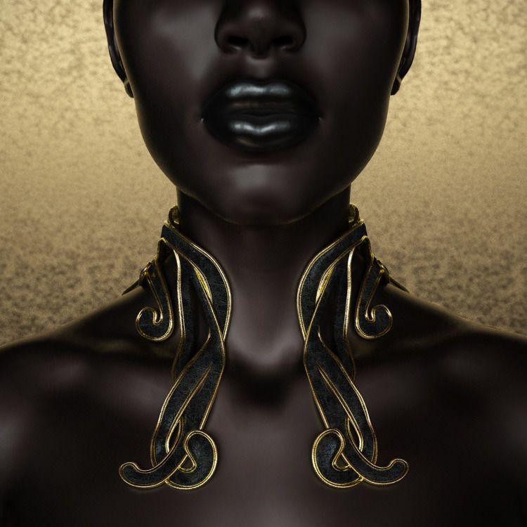 Dea - Black Gold - 3D, digital, render - z3rogravity   ello