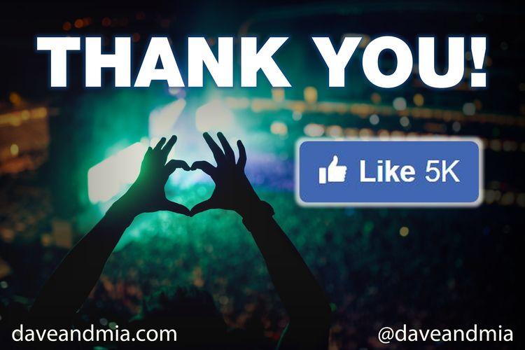 passed 5,000 FRIENDS Facebook C - daveandmia   ello