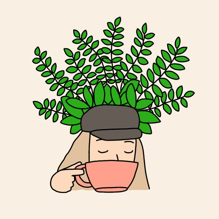 coffee life - illustration, girl - ashleighgreen | ello