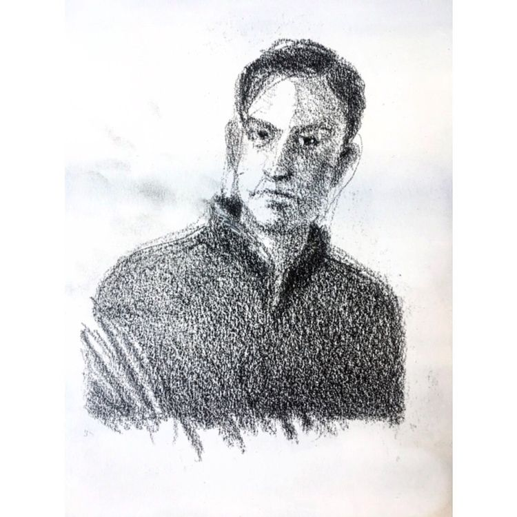 graphite, portrait, sketch, guache - yuliavirko   ello
