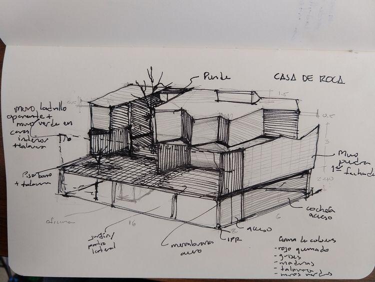 CASA DE ROCA - conceptual sketc - vladimirdel | ello