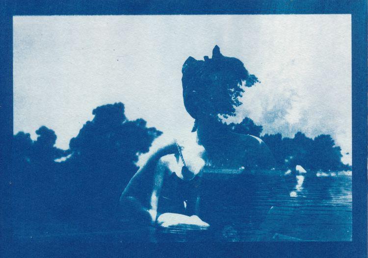 Cyanotype - maav, cutandpaste, cutpaste - papiergedanken-collage-art | ello