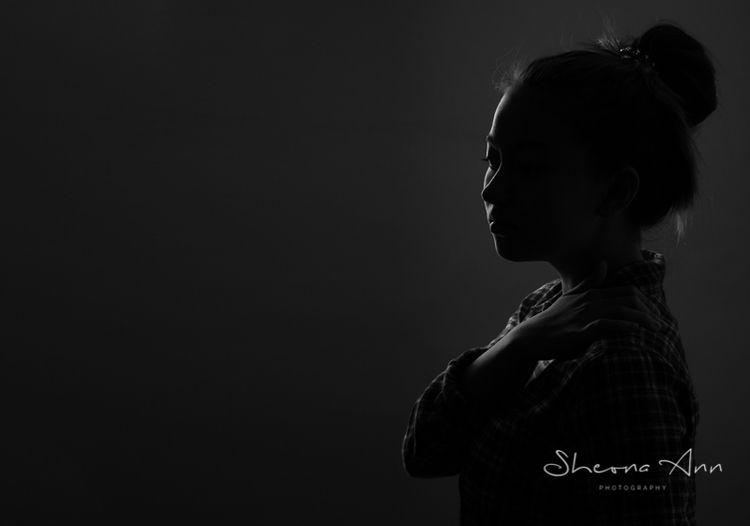 Silhouette drawn shadows - portrait - sheona-ann | ello