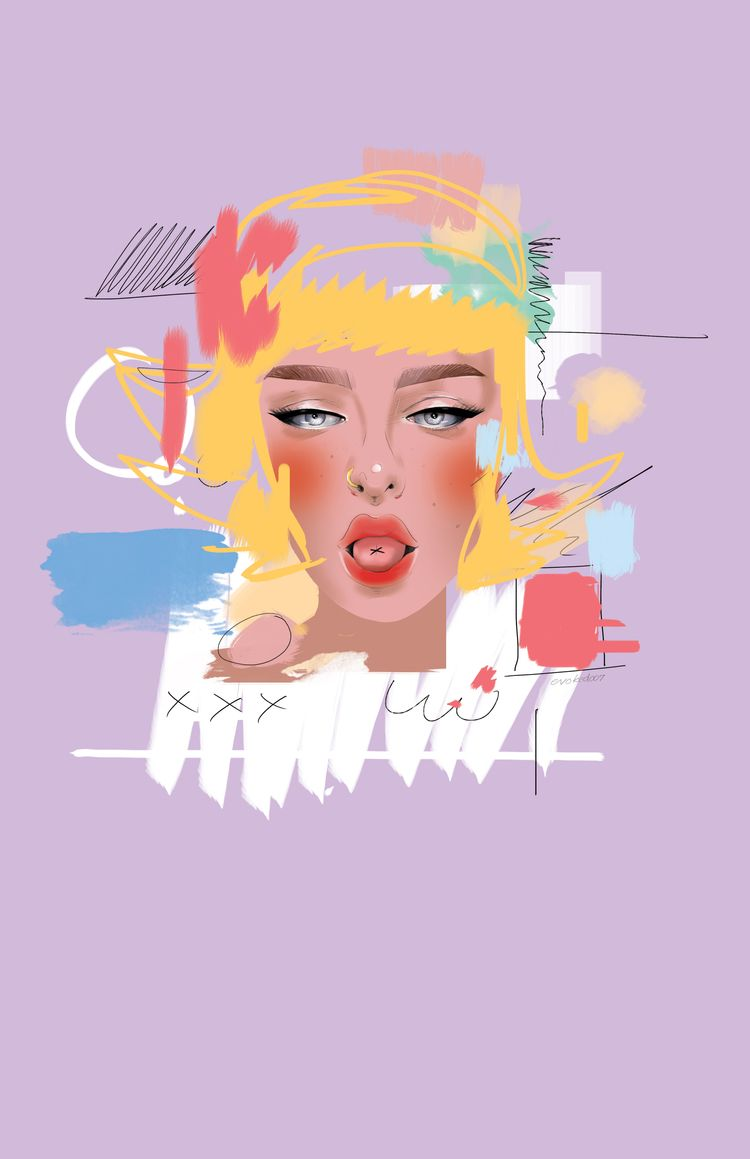 Ladies Digital illustration. Wa - evoked007 | ello